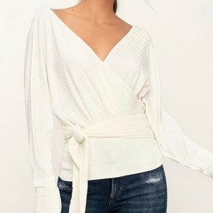 Free People We The Free - Wrap Tee Top - Ivory